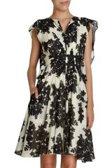 Thakoon Floral Print Butterfly Sleeve Dress
