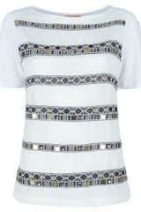 Tory Burch Embellished Blouse - Lyst