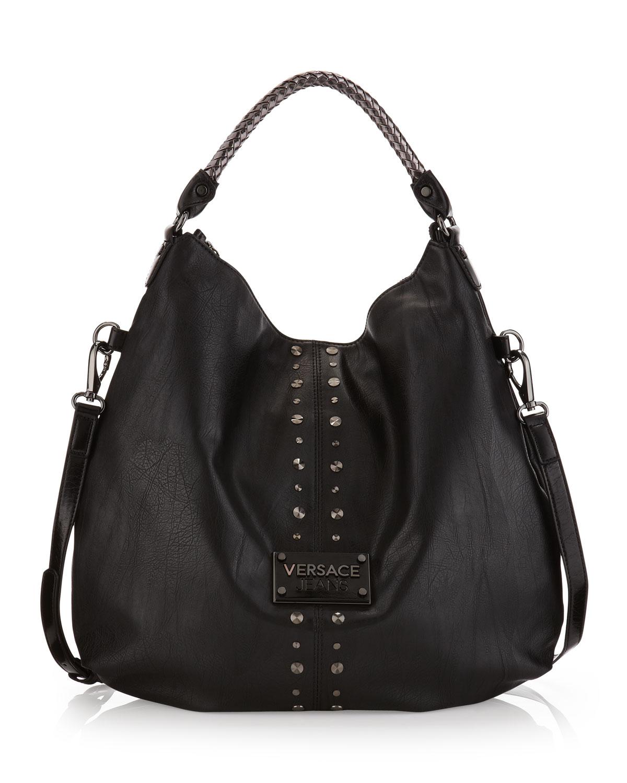 Lyst - Versace Jeans Studtrim Shoulder Bag in Black 7ad9d51e361c0