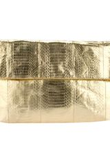 Angel Jackson Metallic Foldover Clutch - Lyst