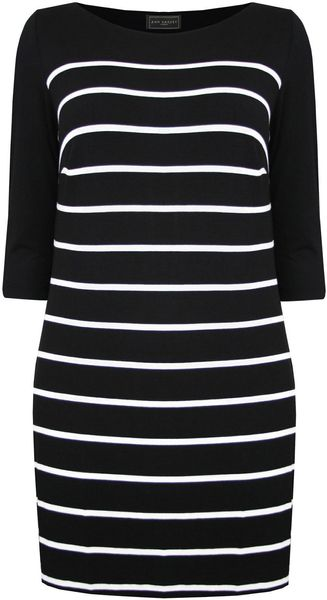 Ann Harvey Black Striped Tunic - Lyst