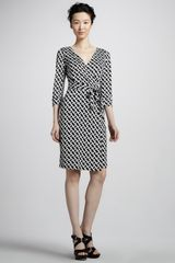 Diane Von Furstenberg New Julian Two Chainprint Wrap Dress - Lyst