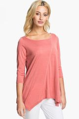Eileen Fisher Silk Cotton Jersey Top - Lyst