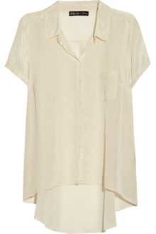 Elizabeth And James Rosie Silk and Cotton-blend Shirt - Lyst