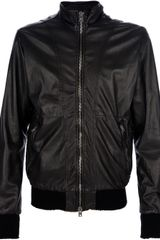 Giorgio Brato Leather Bomber Jacket - Lyst