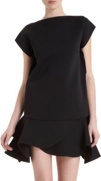 Givenchy Ruffle Hem Mini Dress In Black Lyst