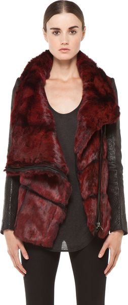Helmut Lang Spanish Flux Fur Jacket  - Lyst
