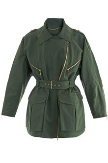 Kenzo Peached Twill Military Trench Jacket - Lyst