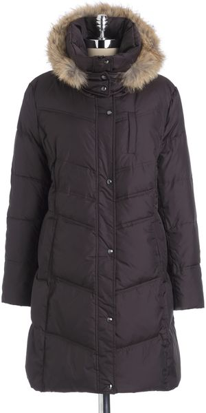 Marc New York Fur Hood Quilted Coat - Lyst