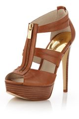 Michael by Michael Kors Berkley Leather Tstrap Sandal - Lyst