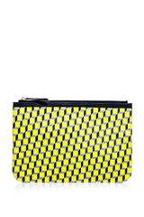 Pierre Hardy Cubeprint Pouch Bag in Yellow - Lyst