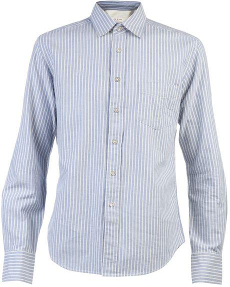 Rag & Bone Yokohama Shirt in Blue for Men