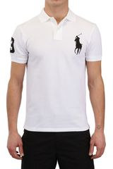 Ralph Lauren Blue Label Piquet Slim Fit Big Logo Polo - Lyst