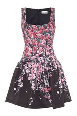 RED Valentino Flower Print Dress - Lyst