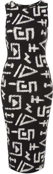 Topshop Graffiti Print Tank Midi Dress - Lyst