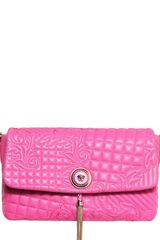 Versace Quilted Leather Shoulder Bag - Lyst