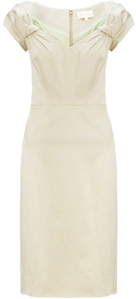 Zac Posen Cap Sleeve Pencil Dress - Lyst