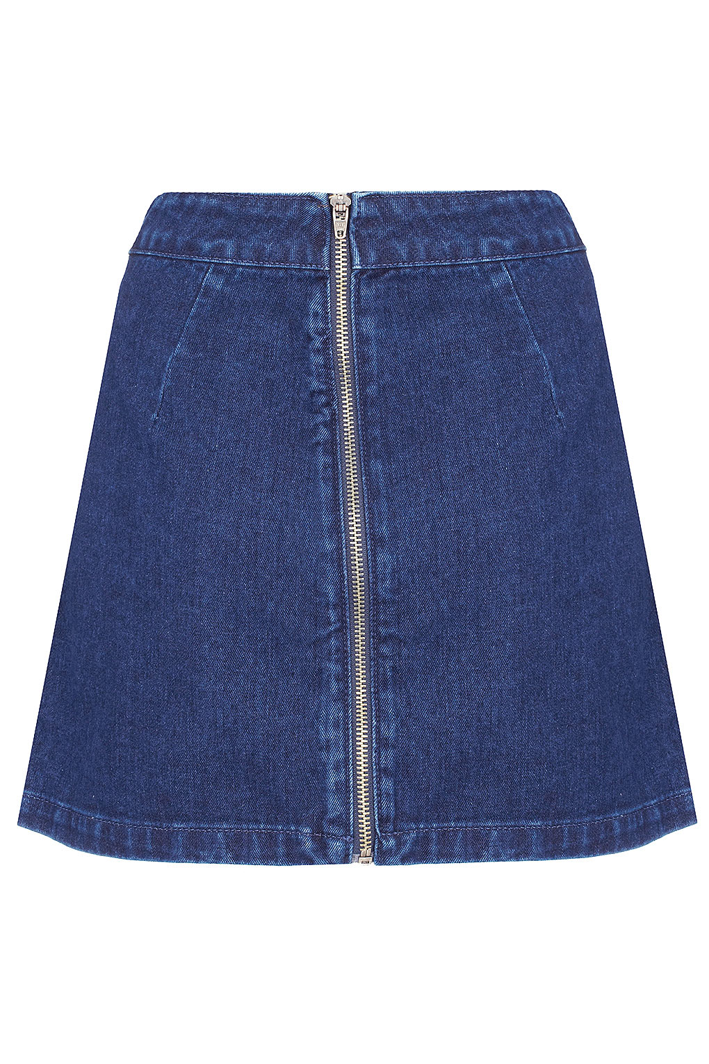 Topshop Moto Aline Denim Skirt in Blue | Lyst