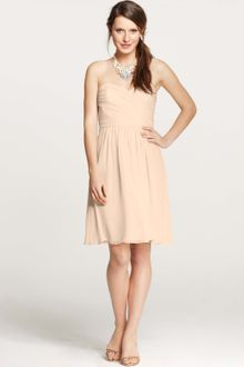 Ann Taylor Silk Georgette Sweetheart Strapless Dress - Lyst