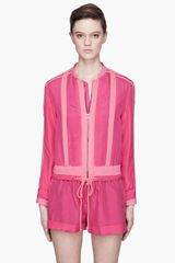 See By Chloé Fuchsia Silk Jogging Jacket - Lyst