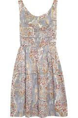 Carven Paris Printed Cotton Dress - Lyst