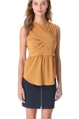 Carven Sleeveless Crossover Top - Lyst
