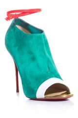 Christian Louboutin Diptic 100mm Suede Shoes - Lyst