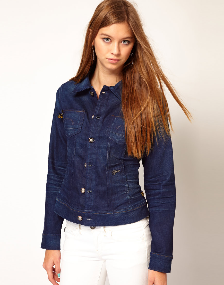 G-star raw Gstar Lynn Denim Jacket in Blue | Lyst