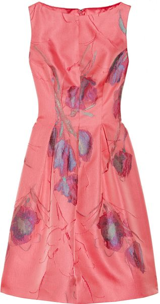 Lela Rose Floral Jacquard Dress - Lyst