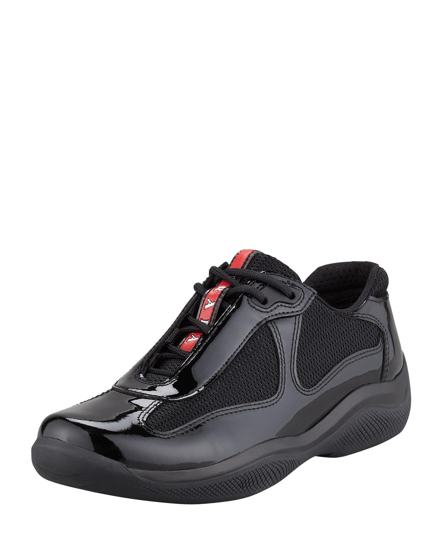 Lyst - Prada Wedge Sneaker, Black in Black