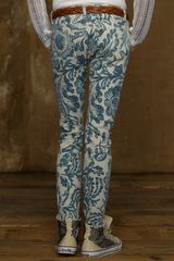 Ralph Lauren Asiatic Floral Skinny Jean in Blue (asiatic floral) - Lyst