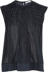 See By Chloé Pleated Cottonvoile Top - Lyst