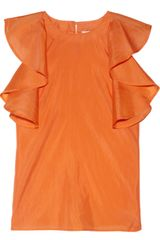 See By Chloé Ruffled Silkgauze Top - Lyst