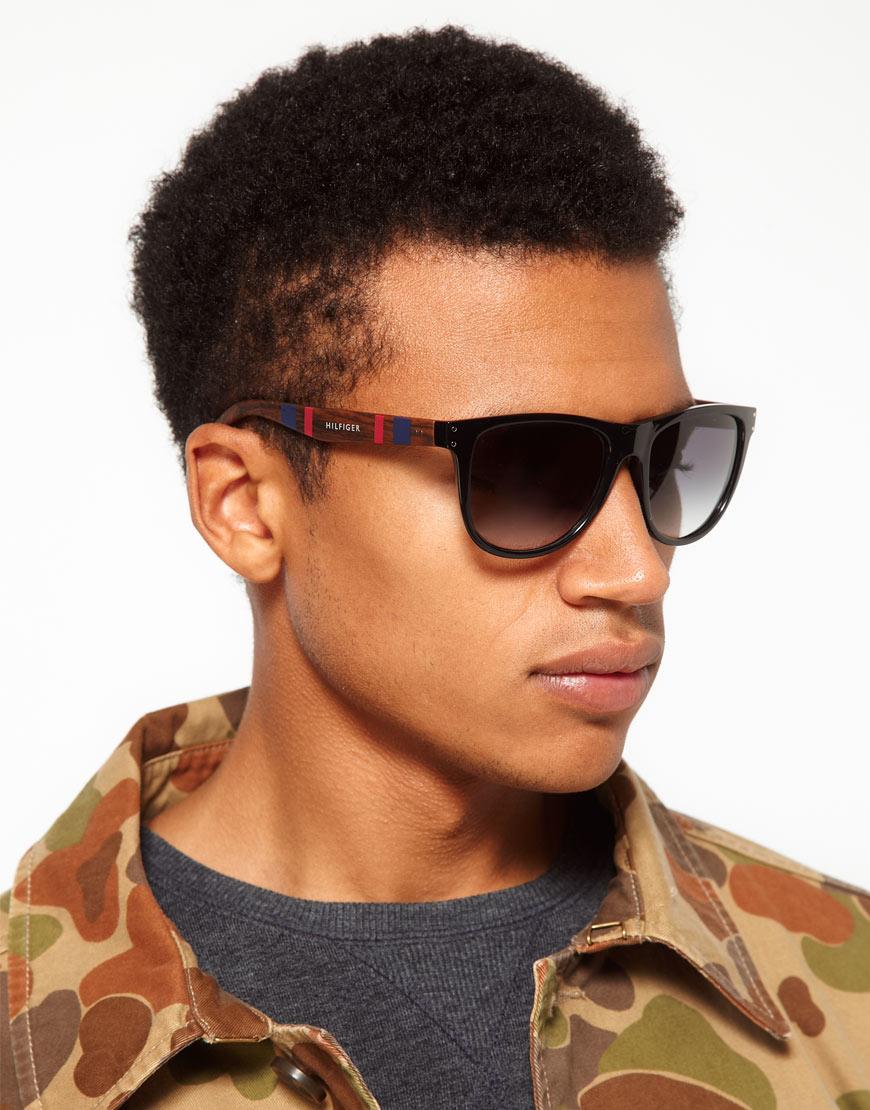Lyst Tommy Hilfiger Wayfarer Sunglasses In Black For Men