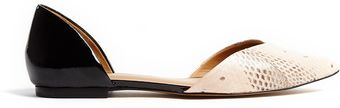 3.1 Phillip Lim Devon Dorsay Two Tone Flat Shoes - Lyst