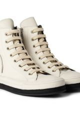 Ann Demeulemeester Leather High Top Sneakers - Lyst