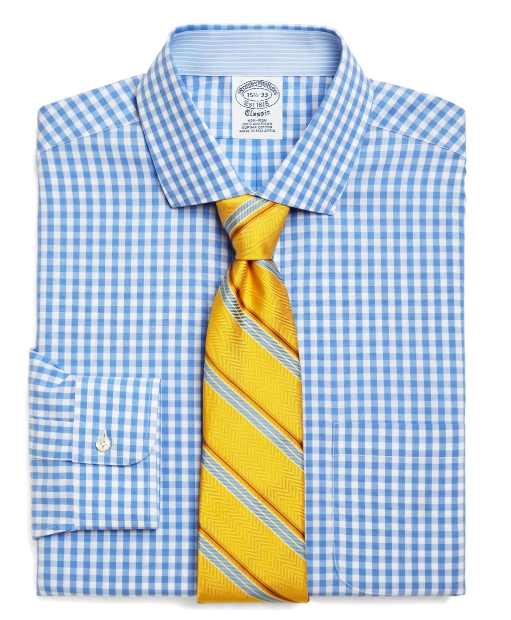 Brooks brothers supima cotton non iron traditional fit for Supima cotton dress shirts