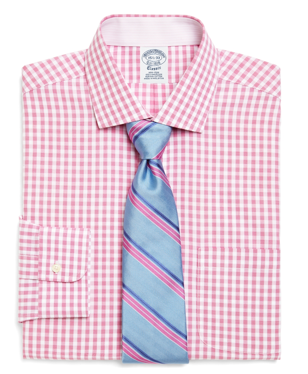 Lyst Brooks Brothers Supima Cotton Noniron Slim Fit Gingham Dress