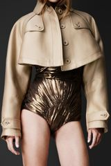 Burberry Prorsum Double Duchess Cape Jacket - Lyst