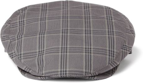 Dolce Amp Gabbana Check Cotton Flat Cap In Gray For Men Lyst