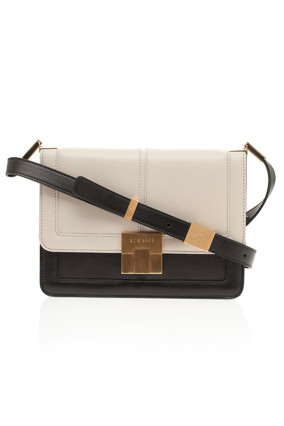 42faa16de0 Lyst - Elie Saab Small Bicolor Bag in Brown