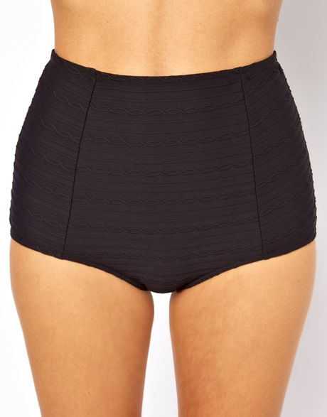 Freya Showboat High Waisted Bikini Bottom in Black - Lyst
