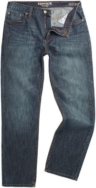 Howick Bridgeport Five Pocket Washed Jeans - Lyst