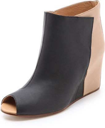 Maison Martin Margiela Open Toe Wedge Booties - Lyst