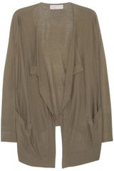 Michael by Michael Kors Draped Fine Knit Cardigan - Lyst
