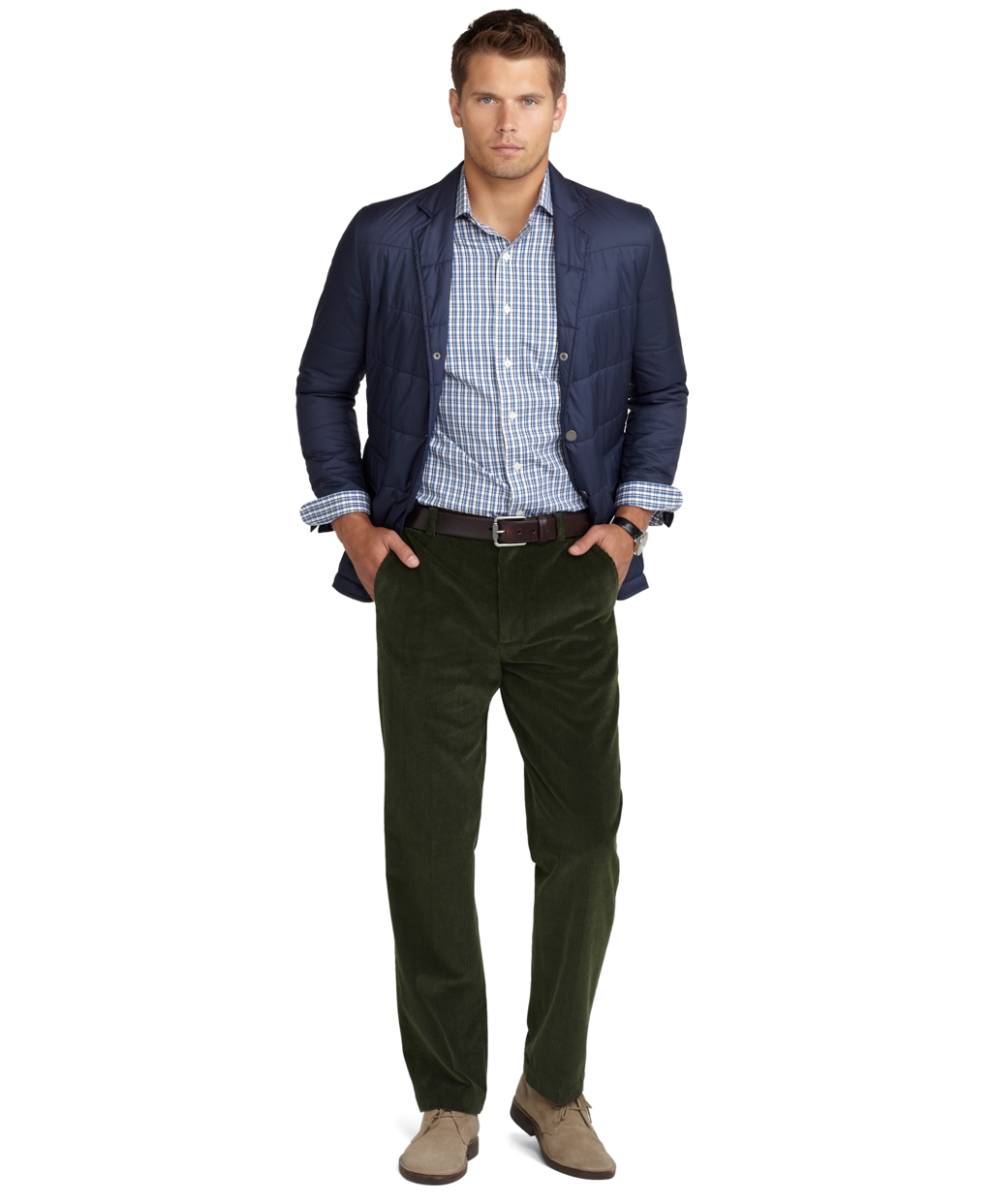 Brooks brothers Clark 8wale Corduroy Pants in Green for Men | Lyst