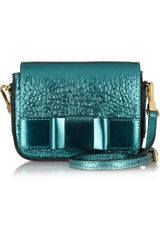 Burberry Prorsum Metallic Texturedleather Shoulder Bag - Lyst