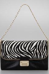 Jimmy Choo Zebra Print Shoulder Bag - Lyst