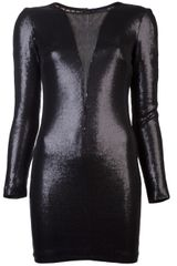 Twentycluny Plunge Sequin Dress - Lyst
