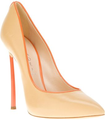 Casadei Pointed Toe Pump - Lyst